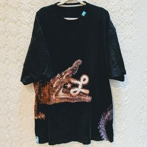 LRG black crocodile t-shirt. Croc Chomps Tee. 4XL